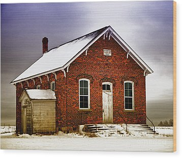 1890 School House Wood Print by JRP Photography