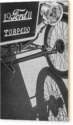 1911 Ford Model T Torpedo Grille Emblem Wood Print by Jill Reger