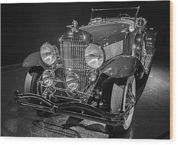 1929 Duesenberg Model J Wood Print by Roger Mullenhour