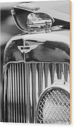 1934 Aston Martin Mark II Short Chassis 2-4 Seater Grille Emblem Wood Print by Jill Reger