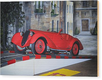 1937 Alfa Romeo 8c 2900a Wood Print by Boris Mordukhayev