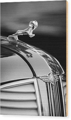 1937 Dodge Hood Ornament - Emblem Wood Print by Jill Reger