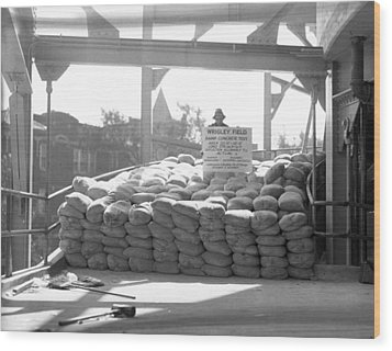 1937 Load Test At Wrigley Field Bleachers Wood Print by Retro Images Archive