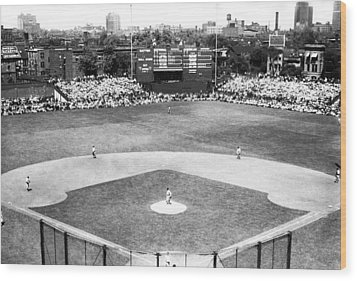 1937 Opening Day At Wrigley Field Wood Print by Retro Images Archive