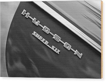1946 Hudson Big Boy Super Six Pickup Truck Emblem Wood Print by Jill Reger