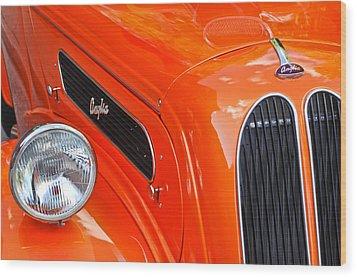 1948 Anglia 2-door Sedan Grille Emblem Wood Print by Jill Reger