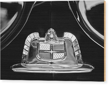 1950 Lincoln Cosmopolitan Limousine Emblem Wood Print by Jill Reger