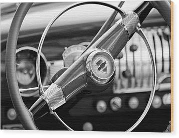 1951 Chevrolet Convertible Steering Wheel Wood Print by Jill Reger