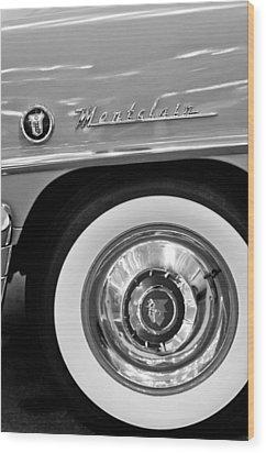1951 Mercury Montclair Convertible Wheel Emblem Wood Print by Jill Reger