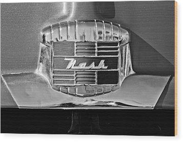 1951 Nash Emblem Wood Print by Jill Reger