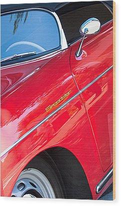 1955 Porsche 356 Speedster Wood Print by Jill Reger