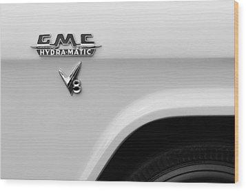 1956 Gmc 100 Deluxe Edition Pickup Truck Emblem Wood Print by Jill Reger