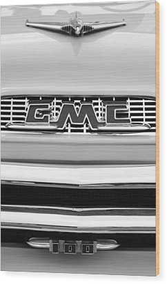 1956 Gmc 100 Deluxe Edition Pickup Truck Wood Print by Jill Reger