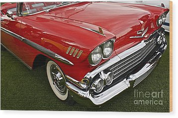 1958 Chevy Impala Wood Print