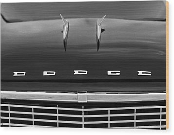 1958 Dodge Coronet Super D-500 Convertible Hood Ornament Wood Print by Jill Reger