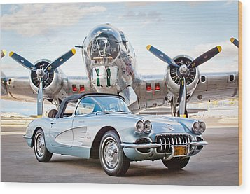 1960 Chevrolet Corvette Wood Print by Jill Reger