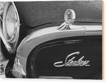 1960 Ford Galaxie Starliner Hood Ornament - Emblem Wood Print by Jill Reger