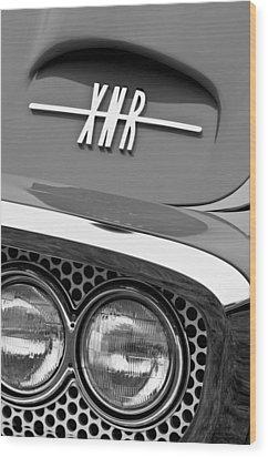 1960 Plymouth Xnr Ghia Roadster Grille Emblem Wood Print by Jill Reger