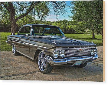 1961 Chevrolet Impala Wood Print by Tim McCullough
