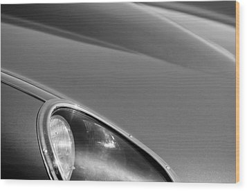 1963 Jaguar Xke Roadster Headlight Wood Print by Jill Reger
