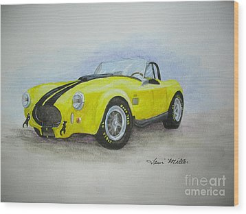 1965 Shelby Cobra Wood Print by Terri Maddin-Miller