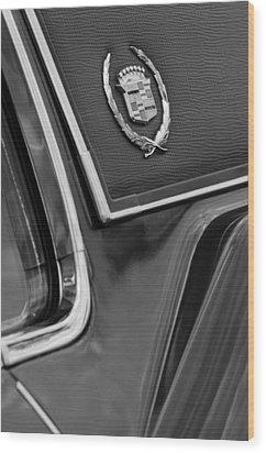 1969 Cadillac Eldorado Emblem Wood Print by Jill Reger