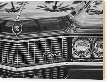1969 Cadillac Eldorado Grille Wood Print by Jill Reger