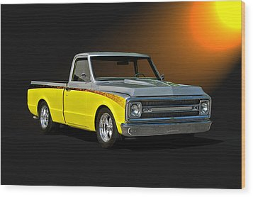 1969 Chevrolet C10 Pick Up Wood Print by Dave Koontz
