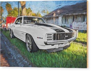 1969 Chevy Camaro Rs Painted  Wood Print