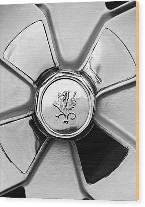 1971 Iso Fidia Wheel Emblem Wood Print by Jill Reger
