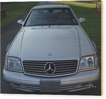 1999 Mercedes Sl500 Wood Print by James C Thomas