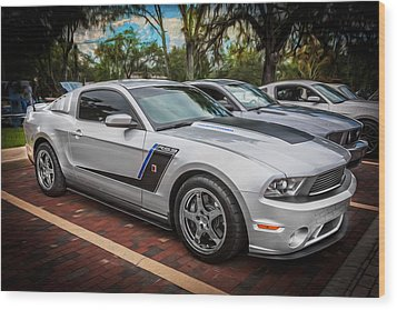 2012 Ford Roush Stage 3 Mustang Rs3 Painted  Wood Print