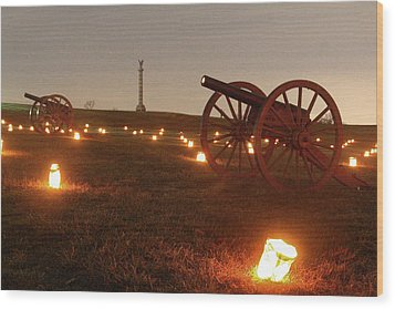 2013 Antietam - Cannon Wood Print by Judi Quelland