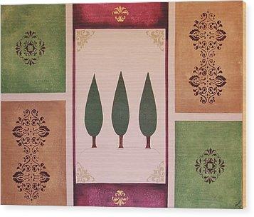 3 Cypress Wood Print