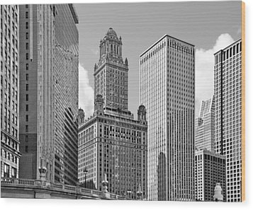 35 East Wacker Chicago - Jewelers Building Wood Print by Christine Till