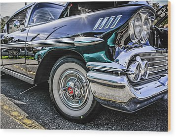 58 Chevy Impala Wood Print