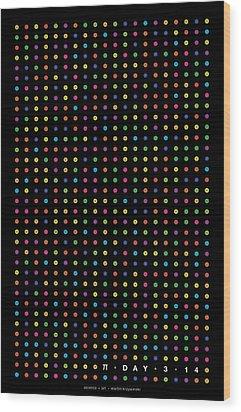 700 Digits Of Pi Wood Print by Martin Krzywinski