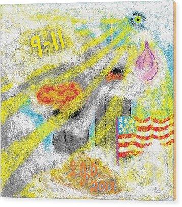 9-11 Wood Print by Joe Dillon