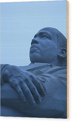 Wood Print featuring the photograph A Blue Martin Luther King - 1 by Cora Wandel