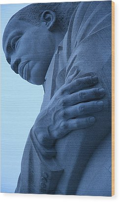 Wood Print featuring the photograph A Blue Martin Luther King - 2 by Cora Wandel
