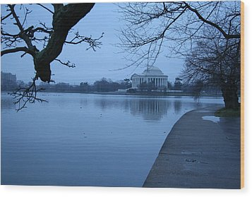 Wood Print featuring the photograph A Blue Morning For Jefferson by Cora Wandel