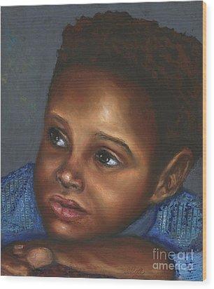 A Boy Wood Print