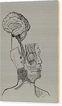 A Bright Idea Wood Print by Nickolas Kossup