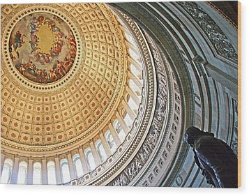Wood Print featuring the photograph A Capitol Rotunda by Cora Wandel