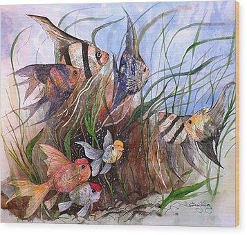 A Fishy Tale Wood Print