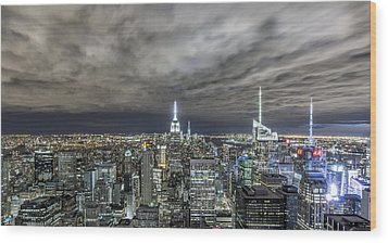 A Night In Nyc Wood Print