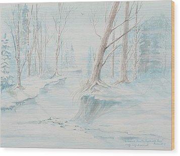 A Winter Path Wood Print