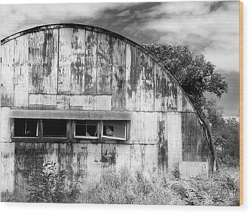 Abandoned Ww2 Quonset Hut Wood Print