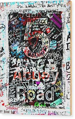 Abbey Road Graffiti Wood Print by Stephen Stookey