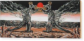 Wood Print featuring the painting Abiogenic Memetics  by Ryan Demaree